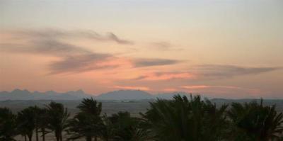 Couché de soleil sur le desert (Egypte)