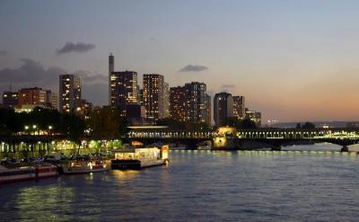 Couché de soleil sur la Seine