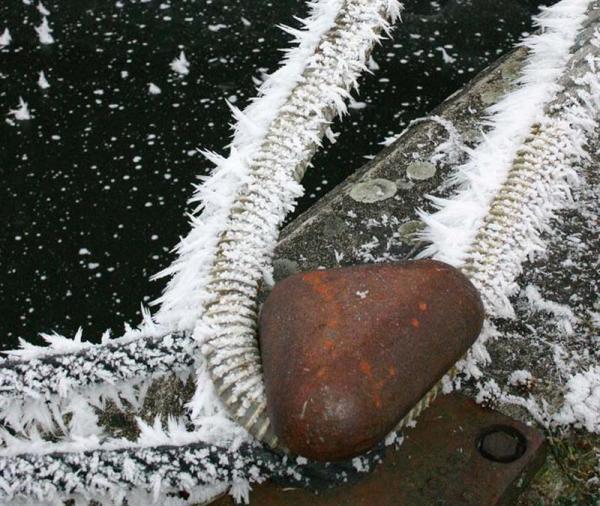 Le long du canal en hiver